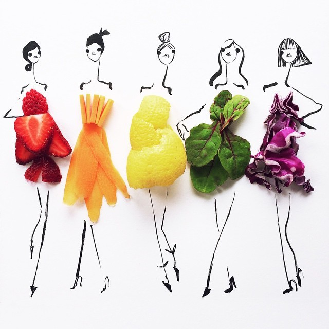 food fashion sketches gretchen roehrs 1 2